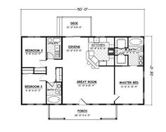 1400 sqft. House Plans, Home Plans and floor plans from Ultimate Plans