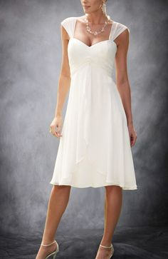 Straps Empire Waist Knee-length Wedding Dress - Wedding Gowns - OuterInner.com Plain and simple... $89
