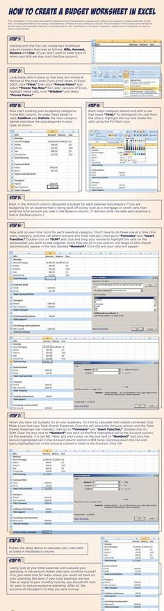 Learn how to create a budget worksheet in Excel step by step. #FinanceSpreadsheet #FinanceWorksheets