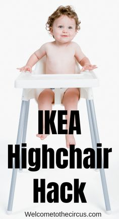 Ikea highchair hack for parents who are losing their mind trying to remove the tray and get it clean! This is a great parenting hack for money-saving parents! #ikeahighchair #highchairhack #highchair #ikeahack #babyhack #parentinghack