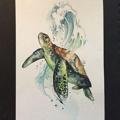 Trendy tattoo animal watercolor sea turtles Ideas - Trendy tattoo animal watercolor sea turtles Ideas Source by stuggiboogie - Watercolor Art, Animal Art, Animal Tattoos, Animal Drawings, Turtle Watercolor, Watercolor Animals, Turtle Tattoo, Art, Watercolor Sea