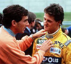a couple of my heroes; #Senna #Schumacher