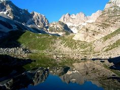 Close to the Alps highest peak Jezerca (2694m) six glacial lakes are embedded in the rugged mountain landscape.