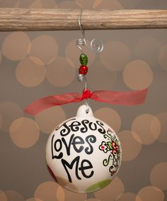 Look at this #zulilyfind! Jesus Loves Me Cross Ornament by  #zulilyfinds