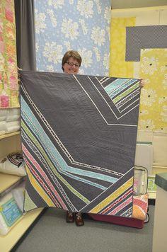 Violet Craft shows a fun Modern Quilt.