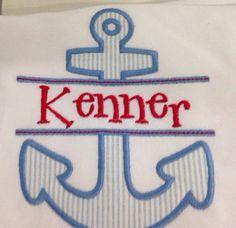 Kids Personalized/Monogrammed  Split Anchor T-shirt on Etsy, $18.00