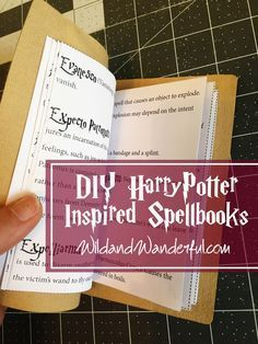 "Bennett and I really wanted to give all of our Harry Potter birthday guests their very own spellbook. But while I was searching online for my ""perfect"" download from other bloggersR…"