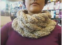 Ravelry: Easy Cable Dropstitch Cowl pattern by Sarah Sharaf El-Din