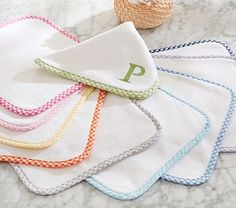 Gingham Washcloth Set of 3 #pbkids