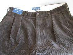 Brown Corduroy Pants 36 x 34 polo Ralph Lauren Corduroy by ReVintageBoutique