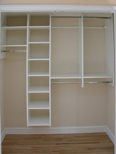Reach In Closets...this would be easier for them to get, and put up their own clothes :)
