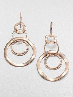 Ippolita Sterling Silver & 18K Gold Multi-Link Drop Earrings