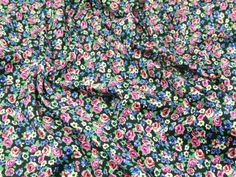 This beautiful fabric from the Hendon collection is a beautiful quality stretch cotton twill. This all over floral design is really busy and full of c Minerva Crafts, Floral Design, Floral Prints, Cotton, Beautiful, Fabrics, Dresses, Tejidos, Vestidos