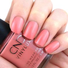 Soulmate Cnd Vinylux, Cnd Shellac, Spring Nail Colors, Spring Nails, Nail Polish Colors, Nails Inspiration, Fun Nails, Swatch, Manicure