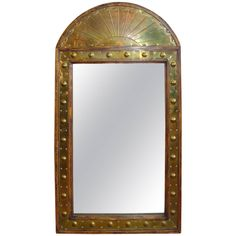 Brass Sarreid Mirror | From a unique collection of antique and modern wall mirrors at https://www.1stdibs.com/furniture/mirrors/wall-mirrors/