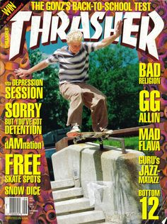 "Karma Tsocheff ""Thrasher"" Magazine cover"