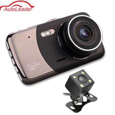 4 Inch HD 1080P Dual Lens Car DVR Camera Video Recorder Reversing Rearview G-sensor Night Vision 170 Degree Dash Cam #Affiliate