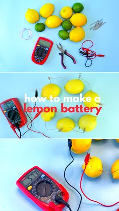 How to Make a Lemon Battery - - How to Make a Lemon Battery Babble Dabble Do One of the most classic science fair projects you can do is learn how to make a lemon battery. Use chemistry to generate an electric current! Science Projects For Kids, Creative Activities For Kids, Preschool Science, Science Lessons, Science For Kids, Stem Activities, Learning Activities, Kids Learning, Art For Kids