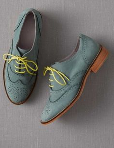 Brogues with neon laces!