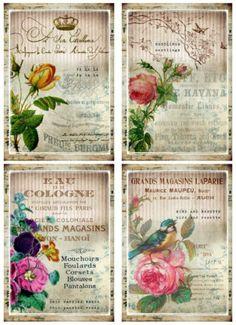 9-PERFUME-LABEL-FLOWER-RETRO-VINTAGE-155-lb-SCRAPBOOK-PAPER-CRAFT-CARD-TAGS