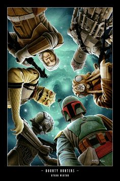 Bounty Hunters /by Byron Winton #starwars #art