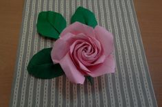 Naomiki Sato Origami Rose (Pentagon Rose) Folded by me. This is my first attempt.