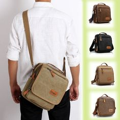 Men WomenBag, Casual Canvas Outdoor, IPad Shoulder Bag, Multifuctional Crossbody Bag Handbag