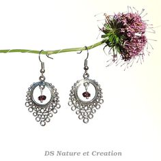 Red garnet jewel red gemstone earrings by DSNatureetCreation www.etsy.com/listing/236936875/red-garnet-jewel-red-gemstone-earrings