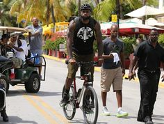 It's him wearing his new lebron 11