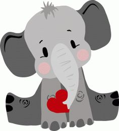 photo by daniellemoraesfalcao minus polymer clay art rh pinterest com elephant clipart for kids elephant clipart baby shower