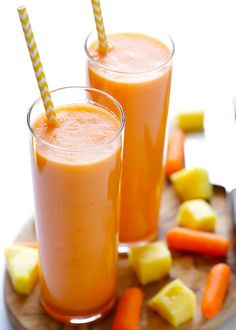 Carrot Pineapple Smoothie | 11 Delicious Smoothie Recipes You Need to Try
