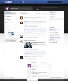 Facebook Re-Design - Sold by ~Andasolo on deviantART