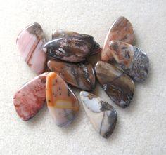 Multi Color Agate Freeform Gemstone Pendant by CatsBeadKitsandMore