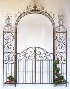 Rose arch with metal wrought iron gate 120853 cm climbing aid ., Buy rose arch with wrought iron gate 120853 metal cm climbing aid in Hood.de forged rose arch with wrought metal gate 120853 cm climbing aid buy at Hood.de in bad condition Although. Pergola Plans, Pergola Kits, Arco Floral, Wrought Iron Decor, Pergola Attached To House, Door Gate, Metal Pergola, Buy Roses, Iron Gates