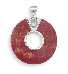 Coral pendant...perfect to pair with a sterling silver chain. www.carafina.us