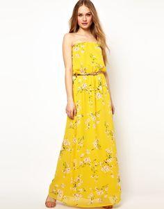 beautiful sunny floral maxi dress