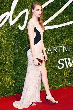 British Fashion Awards 2014 Red Carpet Fashion: Cara Delevingne  #fashion #redcarpetfashion #celebritystyle
