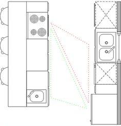 Line-shape-kitchen-with-island-Popular-Kitchen-Layout-Design-Ideas