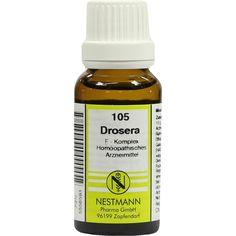 DROSERA F Komplex Nr.105 Dilution:   Packungsinhalt: 20 ml Dilution PZN: 05556593 Hersteller: NESTMANN Pharma GmbH Preis: 3,84 EUR inkl.…