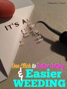 One Click Trick to Cutting Tiny HTV and Vinyl Designs and Text ~ Silhouette School