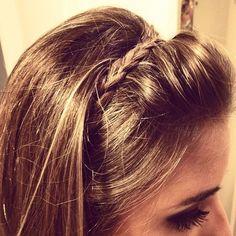 Braid over teased bangs