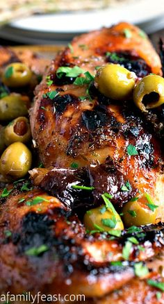Chicken Marbella - takes 24 hours to marinate and a good hour to cook so not your weeknight meal, but start the marinade on Saturday and you have a wonderful meal on Sunday with little fuss.