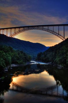 The New River Gorge Bridge.  We always drive across this bridge to get to South Carolina for vacation.