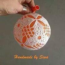 Handmade by SIWA - szydełko,haaknaald, crochet Christmas Crochet Patterns, Crochet Christmas Ornaments, Christmas Balls, Christmas Crafts, Christmas Decorations, Xmas, Holiday Decor, Handmade, Face Book