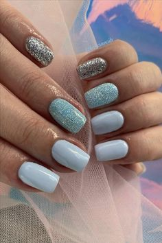 beautiful short square nails, better maintain nails for girls, how to maintain your nails, how to select nail polish, kinds of nail polish Cute Nail Art Designs, Short Nail Designs, Short Square Nails, Short Nails, Water Based Nail Polish, Clear Nails, Girl Blog, Blue Nails, Stylish Girl