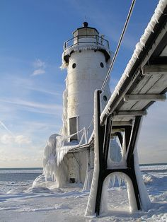 Manistee Lighthouse by Wendy Wernet. We sorted through over 700 photos in our Flickr archives to unearth some truly stunning images of lighthouses across the state. See 14 more incredible photos of Michigan lighthouses on our blog: http://www.michigan.org/blog/outdoors/beaches/15-incredible-photos-of-michigan-lighthouses/