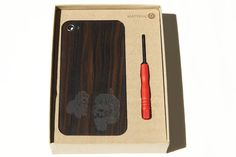 Material6 laser-etched wood iPhone case