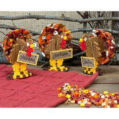 3D Turkey Place Cards