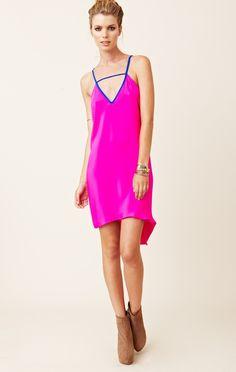 Blu Moon Side Drape Tank Dress $198