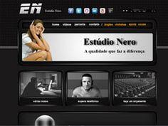 Site desenvolvido para o Estúdio Nero